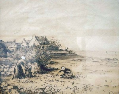Duval la plage de kerhostin saint pierre quiberon 400x315 Léon DUVAL GOZLAN